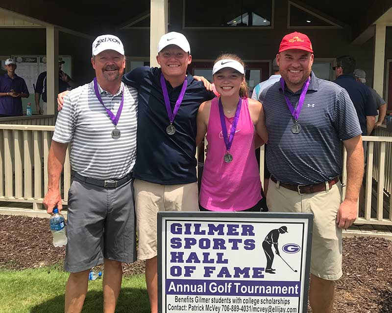 Photo of 2nd Low Gross Winners - Jeff Palmer, Adam Palmer, Clara Smith, Jason Smith